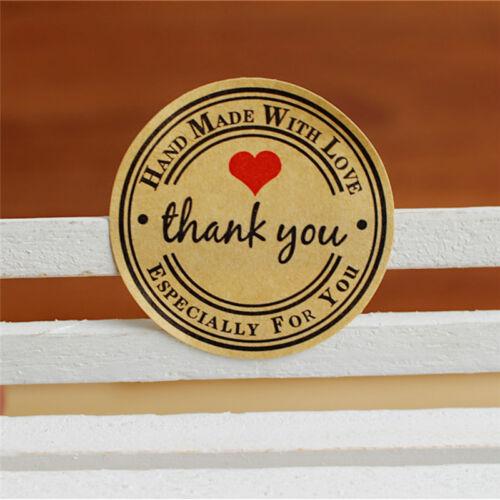 gracias hecho a mano con Amor Pegatinas Etiqueta Reino Unido especialmente Para Ti 12//60//120 un