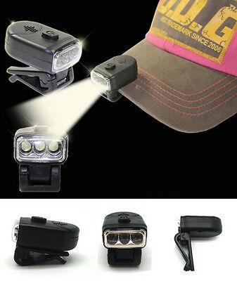 Head Lamp 3 LED Head Light HU Fishing Camping Hunting AC Hiking Hat Torch Hunt
