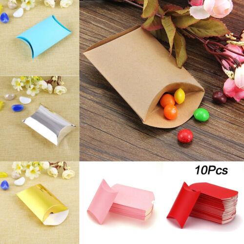10PCS Gift Box Wedding//Party Favour Kraft Paper Candy Boxes Supplies 9*6.5*2.4cm