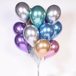 Das Bild Wird Geladen 10Pcs Set 10 034 Chrome Balloons Bouquet Party