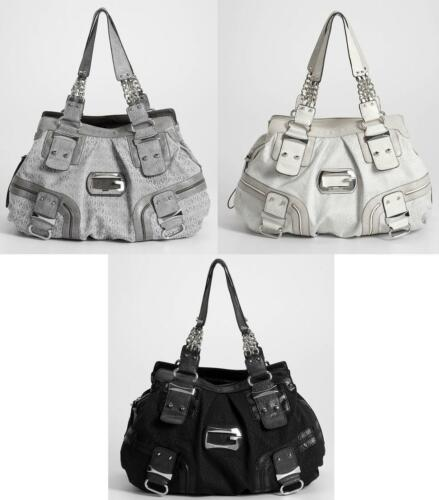 ..GUESS..INTRODUCES INCREDIBLE JILLY COLLECTION TOTE BAG-GRAY//COAL//STONE