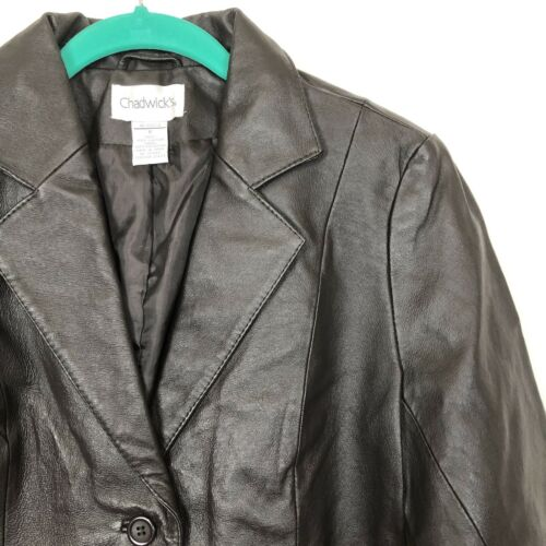 Chadwicks 6 manteau cuir tendance en tendance box urbaine fraîche veste Nwot menthe marron coupe dwqWYZ5n1