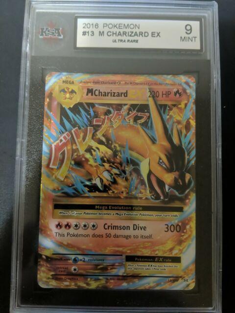 Pokemon Tcg - Mega Charizard Ex 13/108 - Xy Evolutions - Ksa Graded 9 Mint