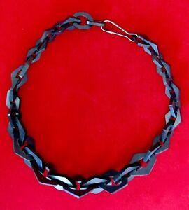 Antique-Victorian-Vulcanite-Choker-Necklace