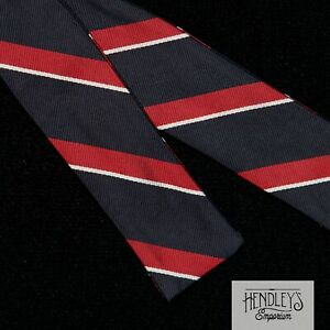 Vintage-Bow-Tie-in-Navy-Blue-Red-White-Striped-Repp-Silk-Bowtie-ENGLAND