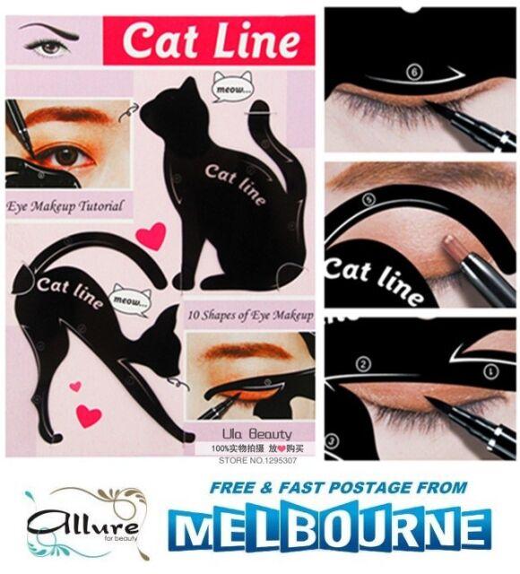 Cat Eye Line Eyeliner Stencil Eyes Liner Model Template Makeup Eyebrow Tool Kit