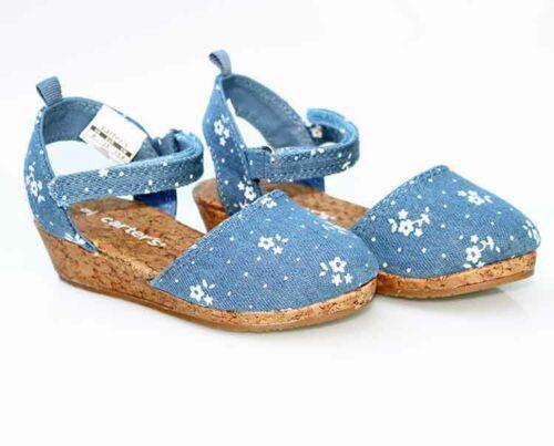 Carter/'s Jenna4 Wedge Sandal Blue Toddler Girls 160291