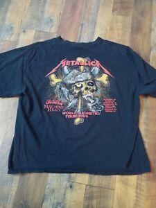 Details about Metallica 2009 t shirt men xl world magnetic tour the sword  machine head black