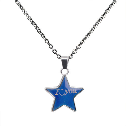 Amazing Mood Color Chang Pendant Best Friend Letter Necklace Banquet Jewelry