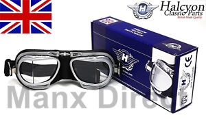 Hand-Made-Halcyon-MK9-Compact-Rider-Goggles-Black-Silver-Use-Open-Face-Helmet