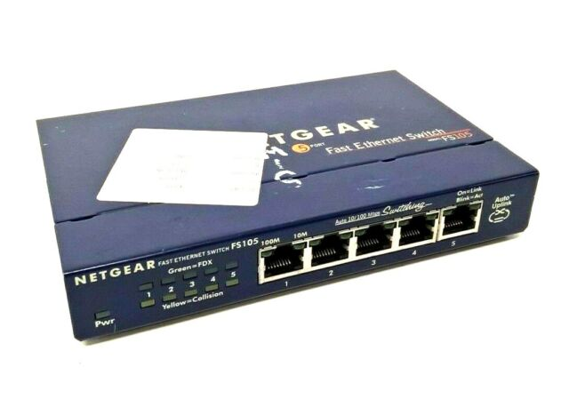 Netgear FS105 5-Port 10/100 Mbps Fast Ethernet Switch