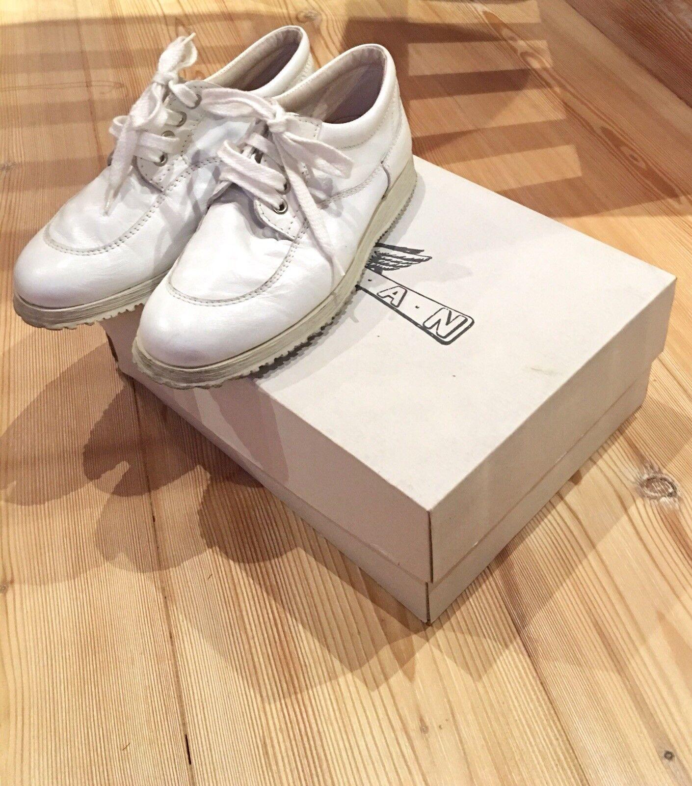 scarpe hogan donna pelle bianca lucida n. 35