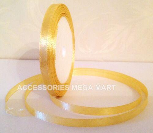 18 Satin Ribbon shiny quarter inch 6mm wide art wedding craft party gift decor