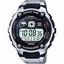 CASIO ILLUMINATOR WORLD TIME STOPWATCH ALARM WR200M MEN'S WATCH AE-2000WD-1A NEW