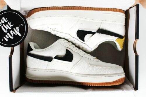 Nike Air Force 1 AF1 /'07 LXX Vandalised White Yellow Black UK 5 8 9 10 US New
