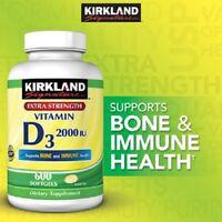 Kirkland Signature Vitamin D 2000iu D3 - 600 Softgels