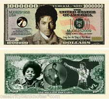 MICHAEL JACKSON MEMORABILIA - Original Collectors  $1M - Banknote/Bill