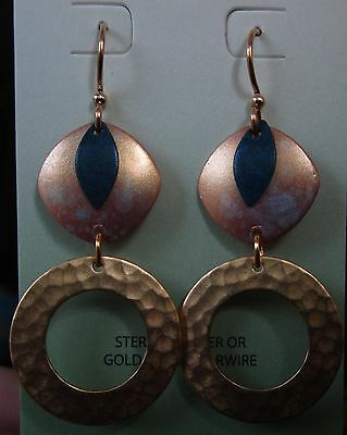 Jewelry & Watches Open-Minded Jody Coyote Earrings Jc0835 New Gold Plated Earwire Blue Qm324-01 Made Usa Goods Of Every Description Are Available Fashion Jewelry