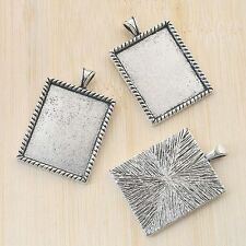 4pcs antiqued silver rectangle picture frames G789