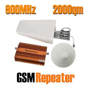 2000qm gsm 900 mhz repeater handy verst rker booster d netz signal antenne ebay. Black Bedroom Furniture Sets. Home Design Ideas
