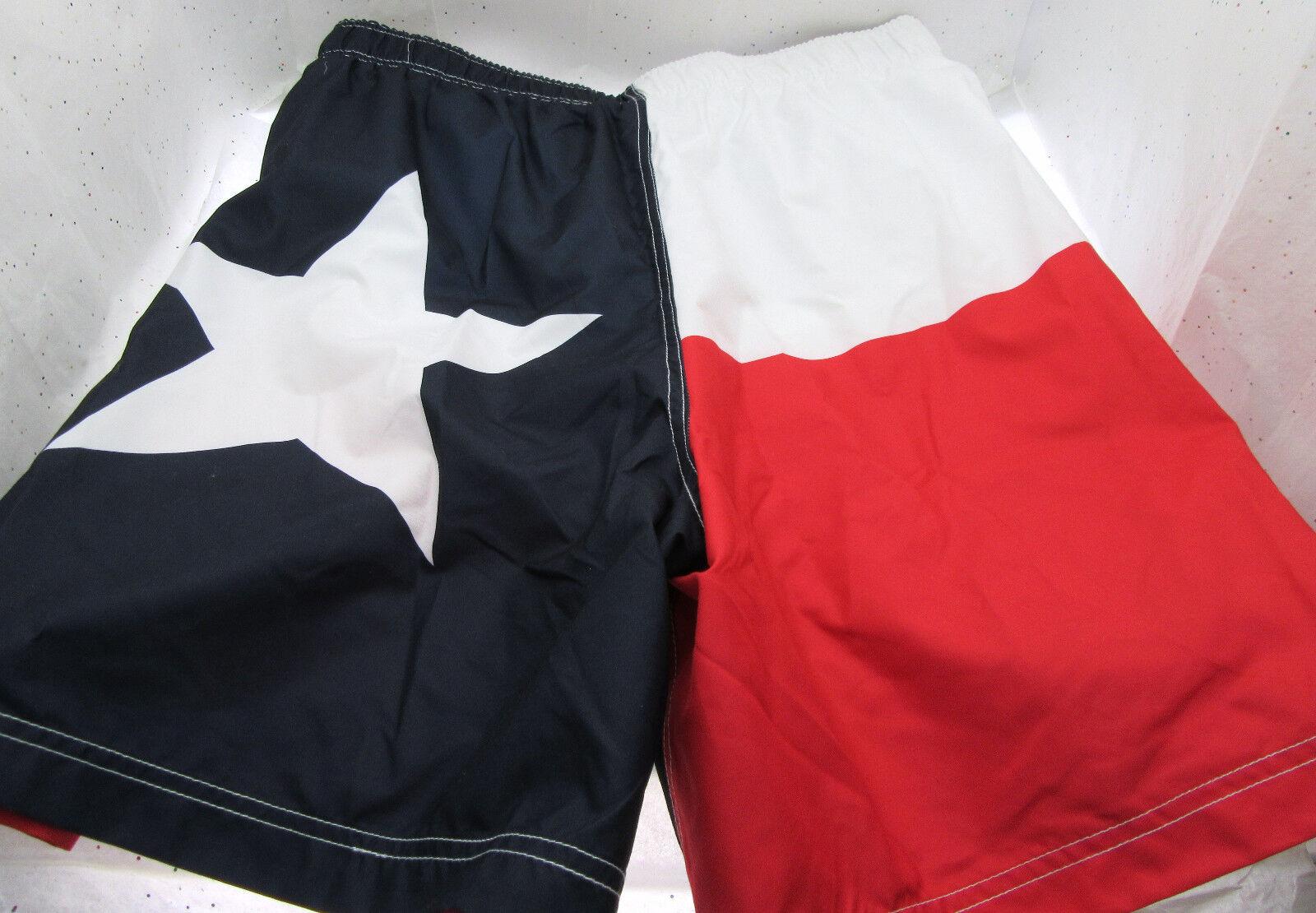 Texas State Flag Swim Trunks 48-50  3XL   3XG  Patriotic Shorts Lone Star