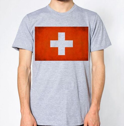 Switzerland New T-Shirt Map Flag Top Country Gift Present City Holiday Tee