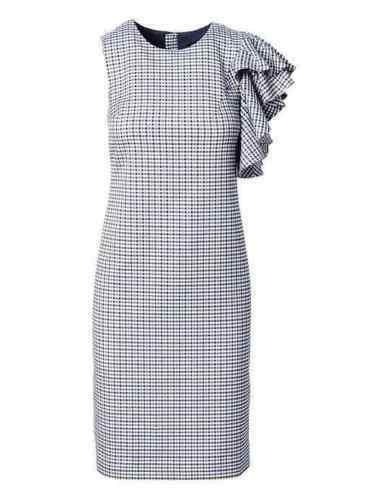 Banana Republic Ruffled-Shoulder Sheath Dress SZ 10T 10 T v1219