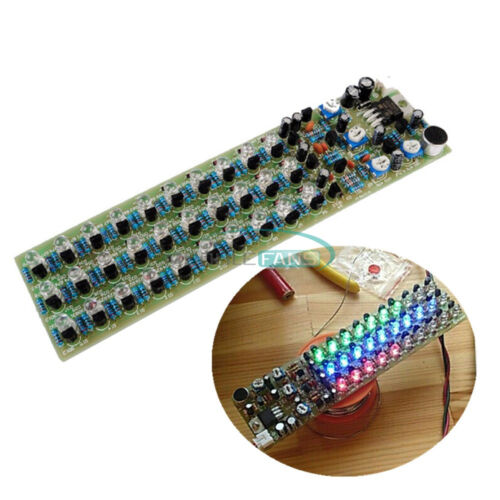 Red//Blue//Green LED Voice Control Level Indicating Electronic Production DIY Kit
