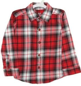 9baf60daa Carters Just One You Toddler Boys Red Plaid Button Down Long Sleeve ...