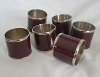 William Sonoma Enamel Napin Rings Set Of 6 Wine In Box