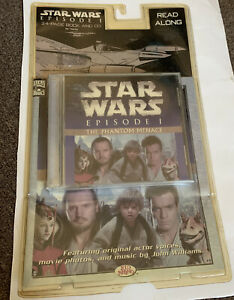 Star-Wars-Episode-1-The-Phantom-Menace-24-Page-Book-And-CD-Brand-New