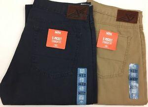 Dockers-Levi-039-s-Original-D2-5-bolsillos-corte-recto-Pantalones-frente-plano-Vaqueros-chinos