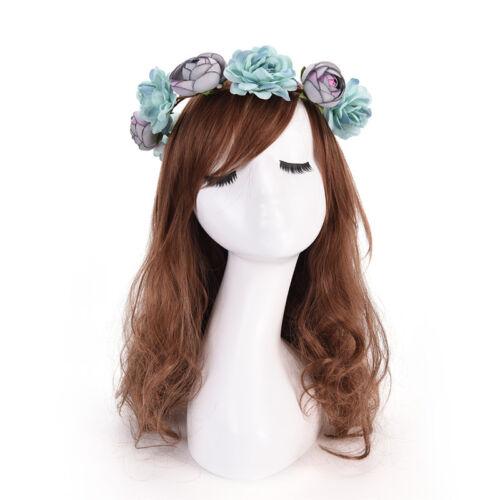 Women Boho Flower Floral Hairband Headband Crown Party Bride Wedding Beach UWUK