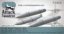 Tanques de caída de F-16 con calcomanías, Escuadrón, ASQ72025, 1:72