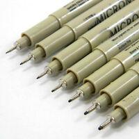 Hot! 8pcs New Micron Fine Line Pen 005 01 02 03 04 05 08 BRUSH Art Supplies