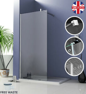 Walk-In-Wet-Room-Shower-Screen-And-Tray-Enclosure-Panel-8mm-Easy-Glass-Cubicle