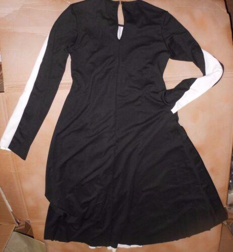 NWT Praisewear Liturgical Longsleeve floorlength dress blk//white Praise dress
