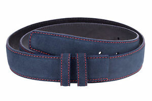 "Wide Blue Suede Belt for Men Big and Tall belts by Capo Pelle Sz 32/"" 46/"""