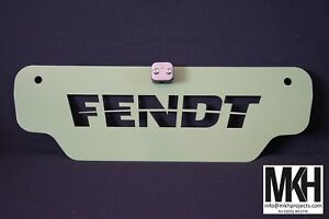 Tractor Weight / Front Tool Box Plate Sign with Centre Line whip option - FENDT