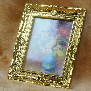 Mini-1-12-Doll-House-Flower-Oil-Painting-Picture-Miniature-Toys-Room-Furniture