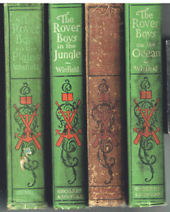 Lot-of-4-Rover-Boys-Series-1899-Nice-condition-Great-Children-039-s-Books