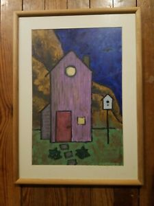 1995 Oil Painting gesso on illustration board originals By  Angie Reed Garner