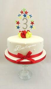 Image Is Loading Mr Tumble Star Burst Birthday Cake Topper Diamante