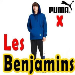 MEN-039-S-PUMA-X-034-LES-BENJAMINS-034-HOODIE-STREETWEAR-PULLOVER-BUNYAMIN-AYDIN-BLUE-XL