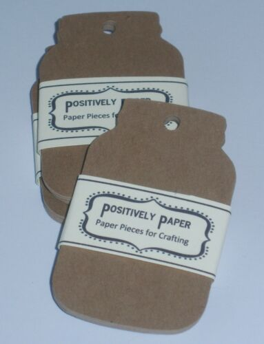 100 Blank Kraft Mason Jar Price Gift Tags Handmade Canning Labels Cardstock