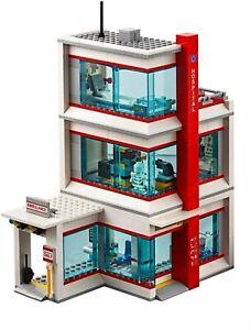 LEGO-City-Hospital-Modular-Building-Only-amp-Light-Brick-60204-NO-MINIFIGURES