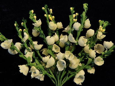Millinery Flower Ivory White Heather 12 stem Bunch for Hat Wedding + Hair NQ2a
