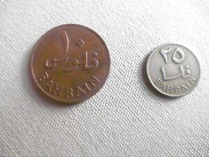 (a311)-bahrain-lot 2 Pieces-10 Et 25 Fils-1965
