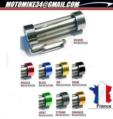 Support de vignette Moto Cylindrique ALU 50X30 mm Rouge