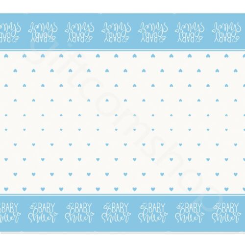Pink Blue Hearts Baby Shower Plastic Table Cover Cloth Party Tableware 7x4.5 ft